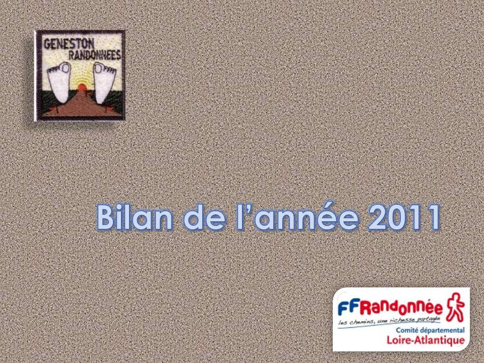 Randonnées du lundi, mercredi et vendredi Randonnées du dimanche Téléthon à Montbert le 5 décembre 2010 Rando de Noël à Nantes le samedi 11 déc.