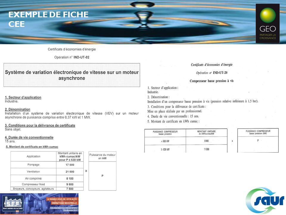 EXEMPLE DE FICHE CEE