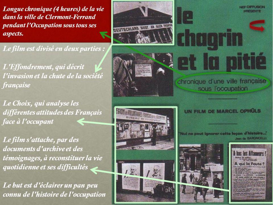 Le film est divisé en deux parties : L'Effondrement, qui décrit l'invasion et la chute de la société française Le Choix, qui analyse les différentes a