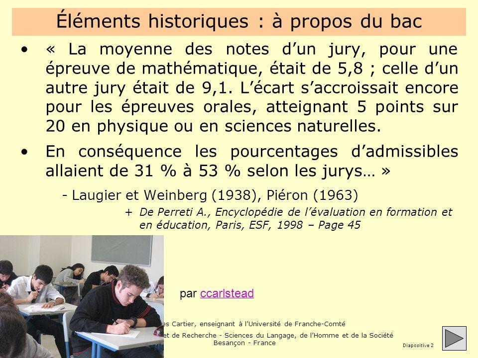 Jacques Cartier, enseignant à lUniversité de Franche-Comté Unité de Formation et de Recherche - Sciences du Langage, de lHomme et de la Société Besançon - France Diapositive 13 Un exemple de fiche de suivi C2i2e Chaque étudiant gère sa fiche de suivi -http://www.jacques- cartier.fr/c2i2e_mef/modeles_validation/http://www.jacques- cartier.fr/c2i2e_mef/modeles_validation/ La dépose sur Moodle -http://moodle.univ-fcomte.fr (démo)http://moodle.univ-fcomte.fr Le dialogue sinstaure entre évalué et évaluateur Les validations ditems se réalisent pas à pas Démonstration