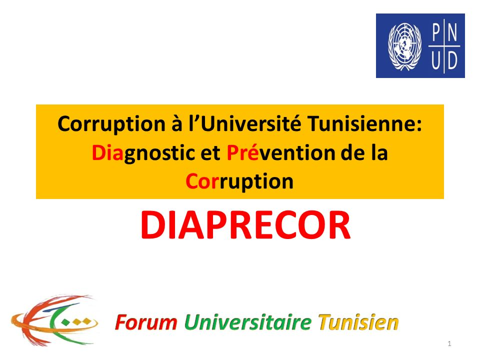Tunisie et Transition Démocratique Université tunisienne démocratique, transparente et intègre DIAPRECOR Stratégie Nationale de Lutte contre la Corruption Description du projet DIAPRECOR Etude/ Diagnostic Etude/ Diagnostic Communication/ Sensibilisation Communication/ Sensibilisation Dialogue/ Lobbying Dialogue/ Lobbying 2