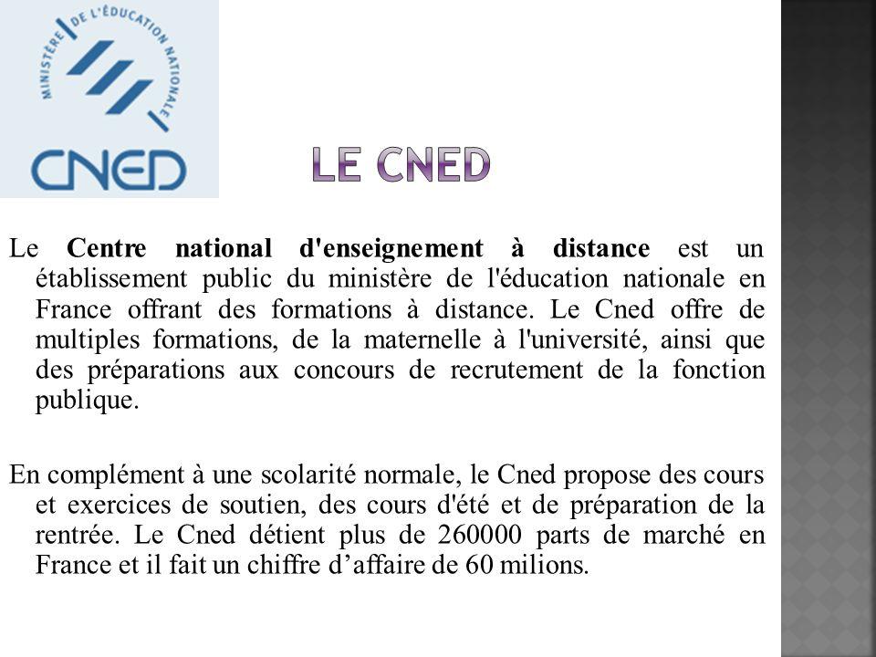 Le Centre national d'enseignement à distance est un établissement public du ministère de l'éducation nationale en France offrant des formations à dist