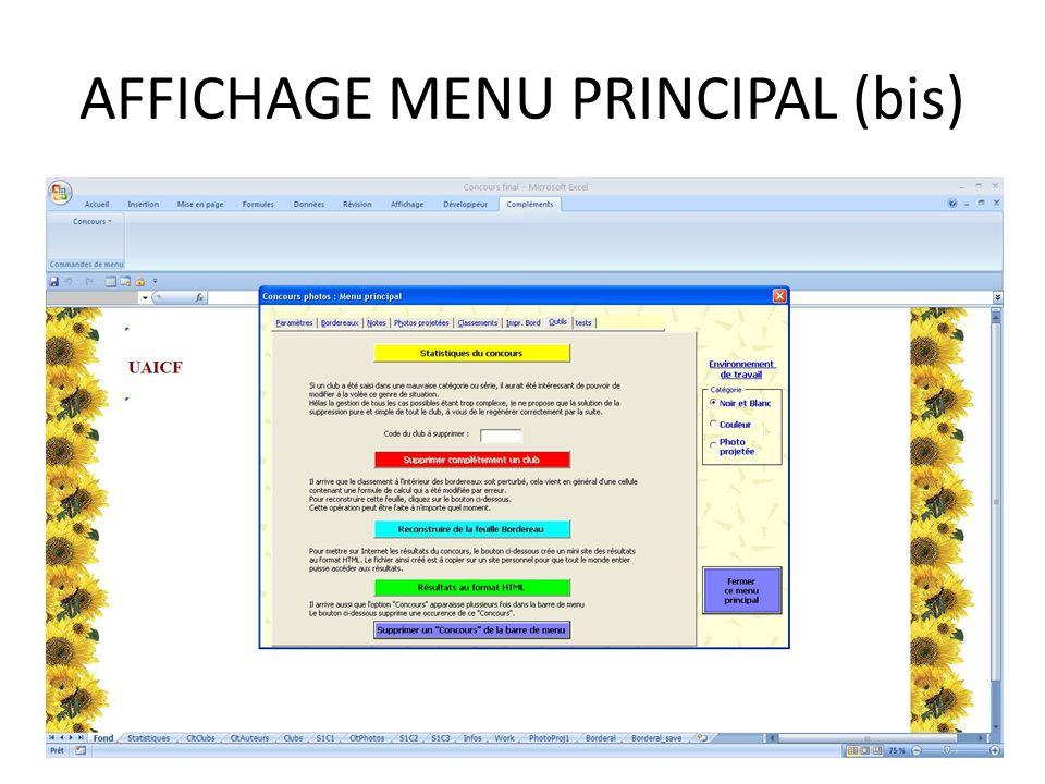 AFFICHAGE MENU PRINCIPAL (bis)