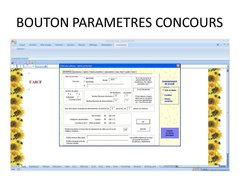 BOUTON PARAMETRES CONCOURS
