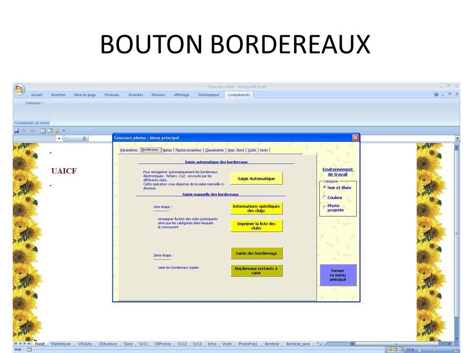 BOUTON BORDEREAUX
