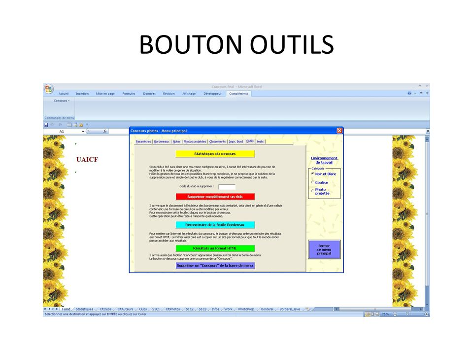 BOUTON OUTILS