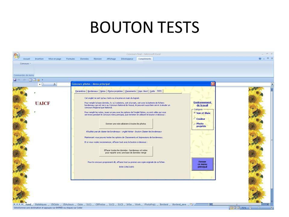 BOUTON TESTS