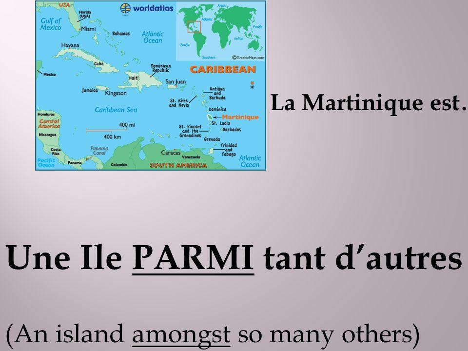 Une Ile PARMI tant dautres (An island amongst so many others) La Martinique est….