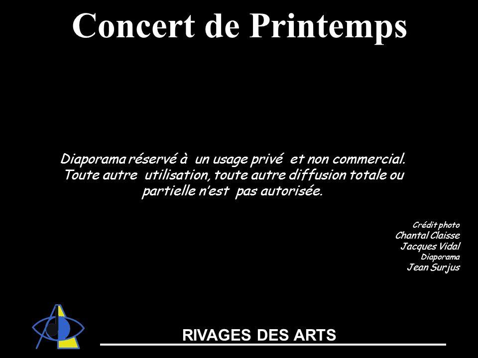 RIVAGES DES ARTS Diaporama réservé à un usage privé et non commercial. Toute autre utilisation, toute autre diffusion totale ou partielle nest pas aut