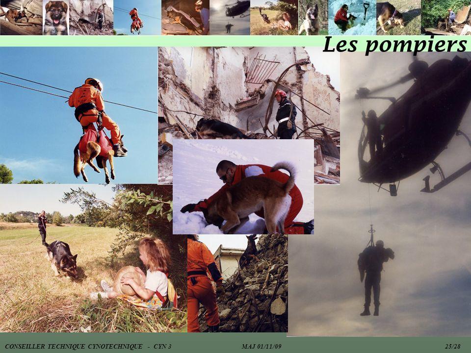 Les pompiers CONSEILLER TECHNIQUE CYNOTECHNIQUE - CYN 3 MAJ 01/11/09 25/28