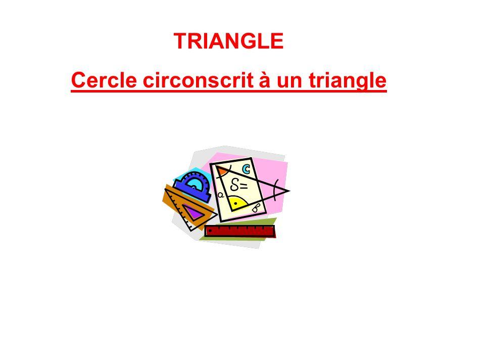 TRIANGLE Cercle circonscrit à un triangle