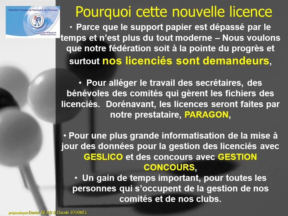 PARAGON vers COMITE proposée par Daniel READ & Claude STIRMEL Comment Paragon va vous faire parvenir vos licences carte à puce.