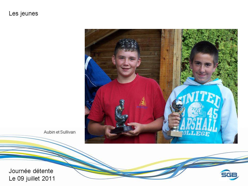 Journée détente Le 09 juillet 2011 Les jeunes Aubin et Sullivan