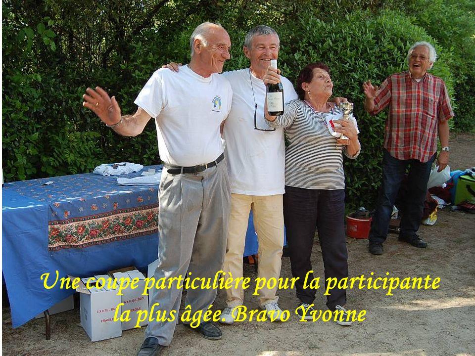 Les quatrièmes sont Carole, Yves et Alain