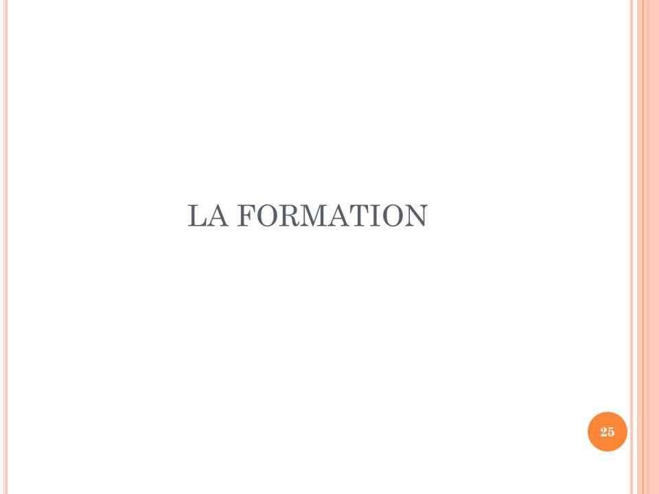25 LA FORMATION