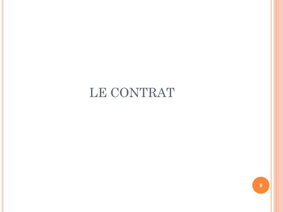 8 LE CONTRAT