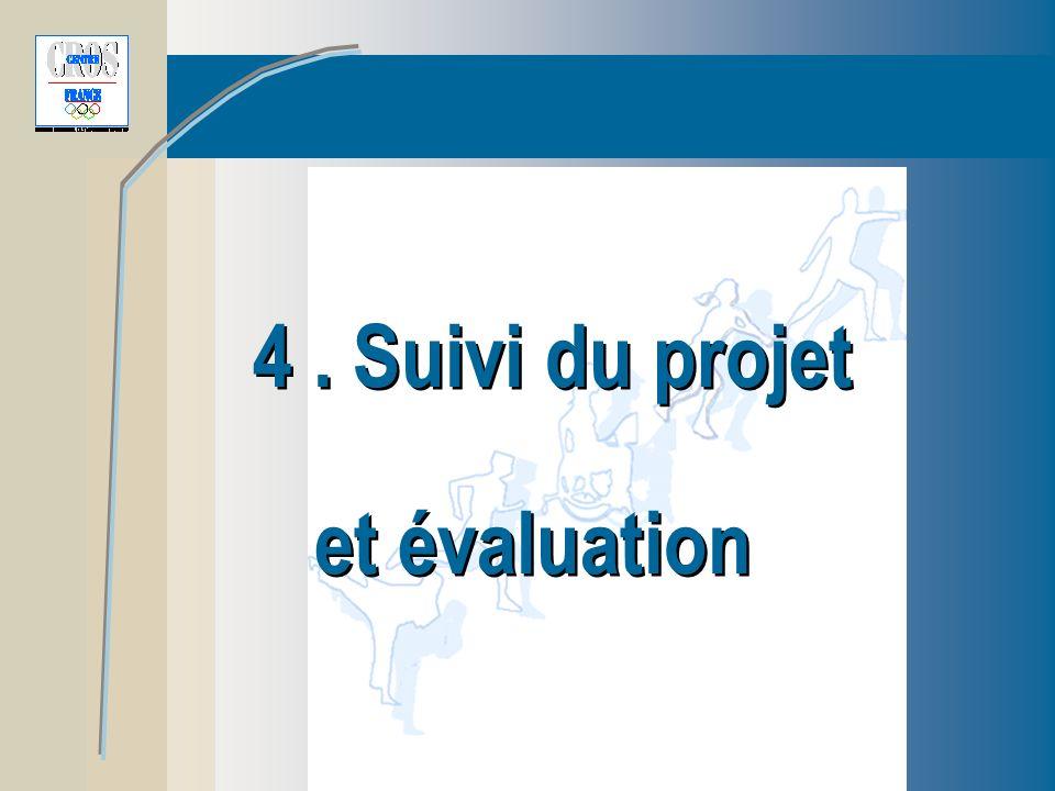 4. Suivi du projet et évaluation