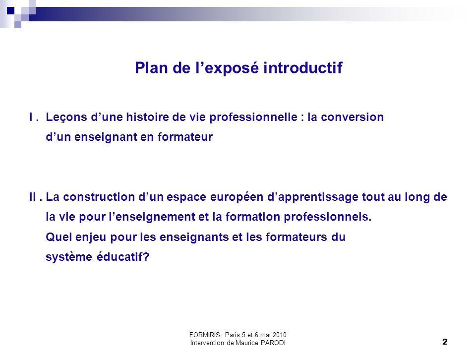 2 Plan de lexposé introductif I.