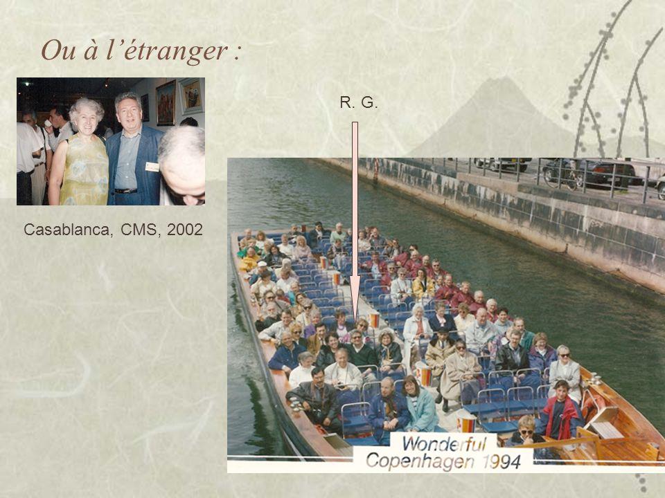 Ou à létranger : Casablanca, CMS, 2002 R. G.