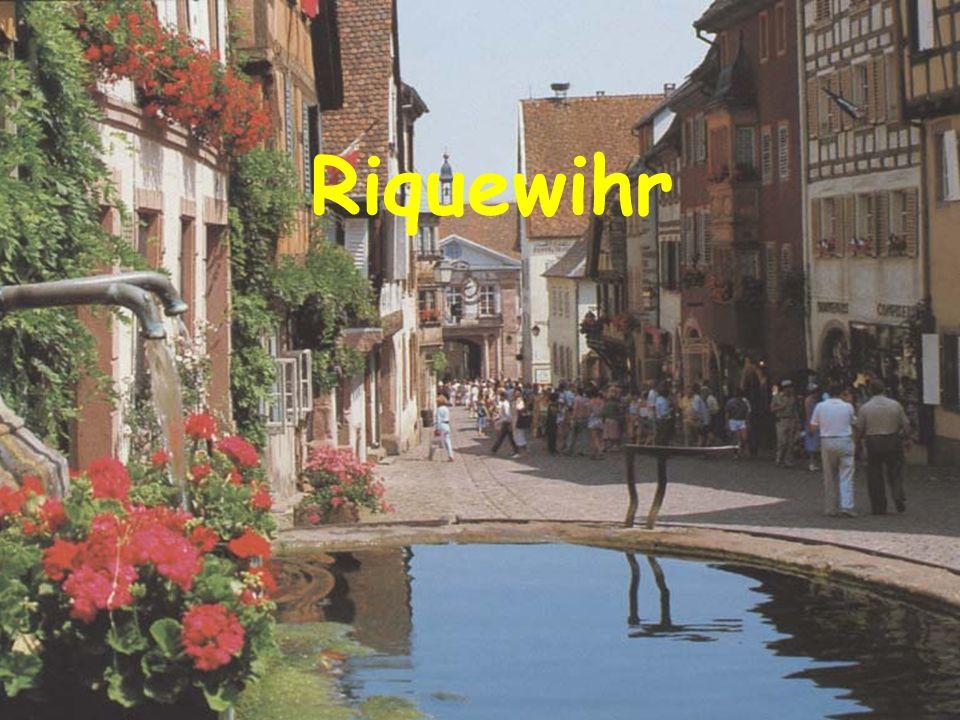 Ribeauvillé Tour de lancien rempart Riquewihr La ville au pied du vignoble
