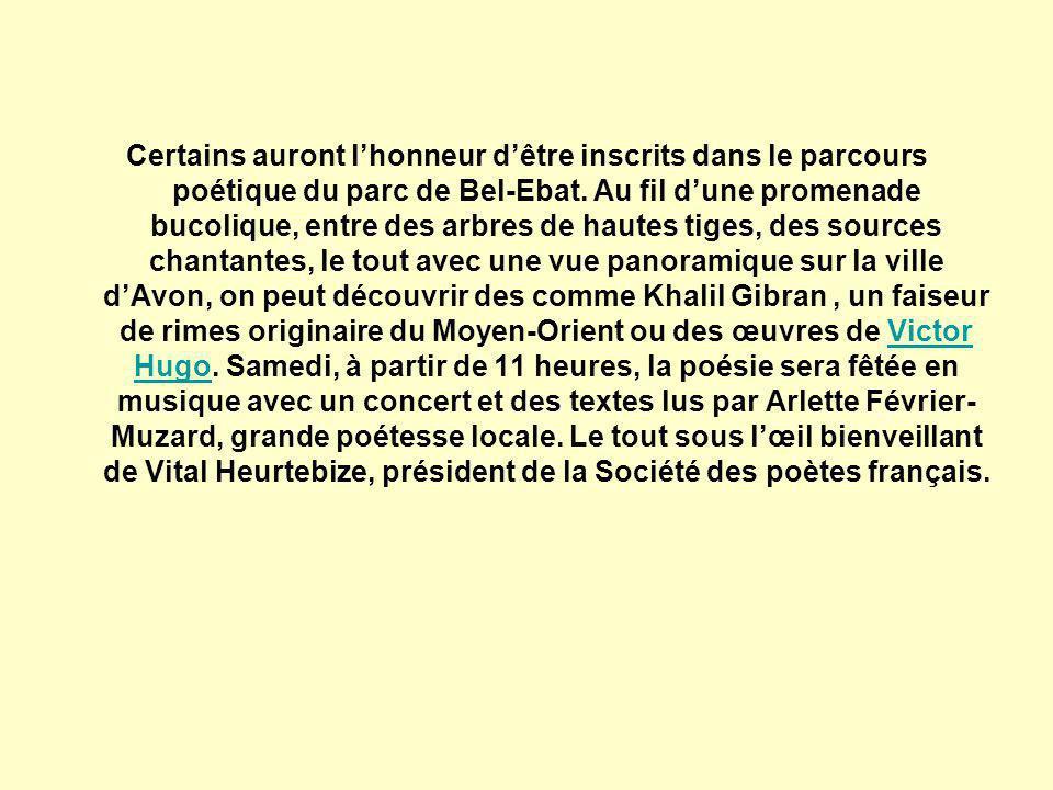 « Voilà cinq ans, nous avons voulu, en collaboration avec la Société des poètes français, remettre la poésie à lhonneur, notamment dans les écoles de