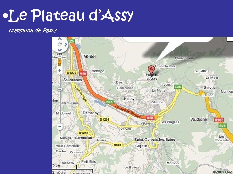 Le Plateau dAssy commune de Passy