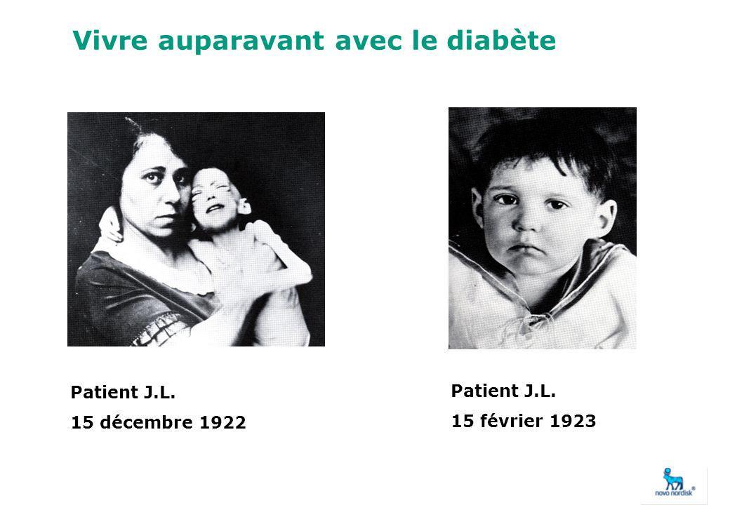 Vivre auparavant avec le diabète Patient J.L. 15 décembre 1922 Patient J.L. 15 février 1923