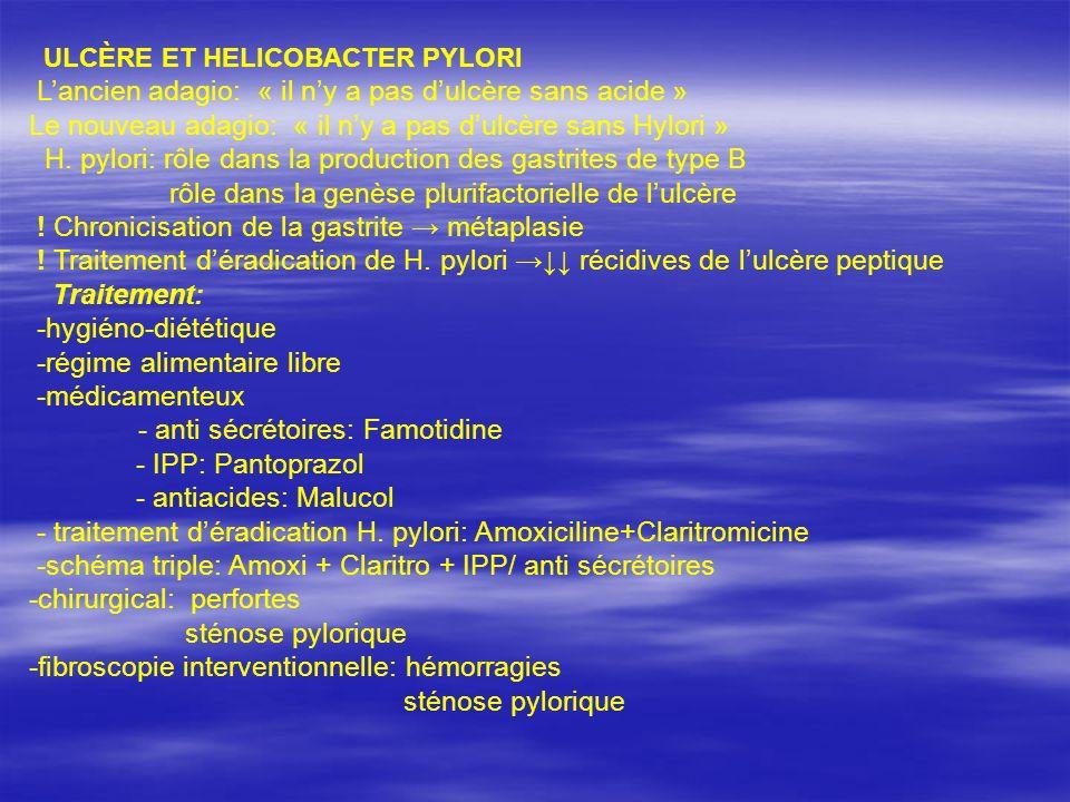 ULCÈRE ET HELICOBACTER PYLORI Lancien adagio: « il ny a pas dulcère sans acide » Le nouveau adagio: « il ny a pas dulcère sans Hylori » H. pylori: rôl