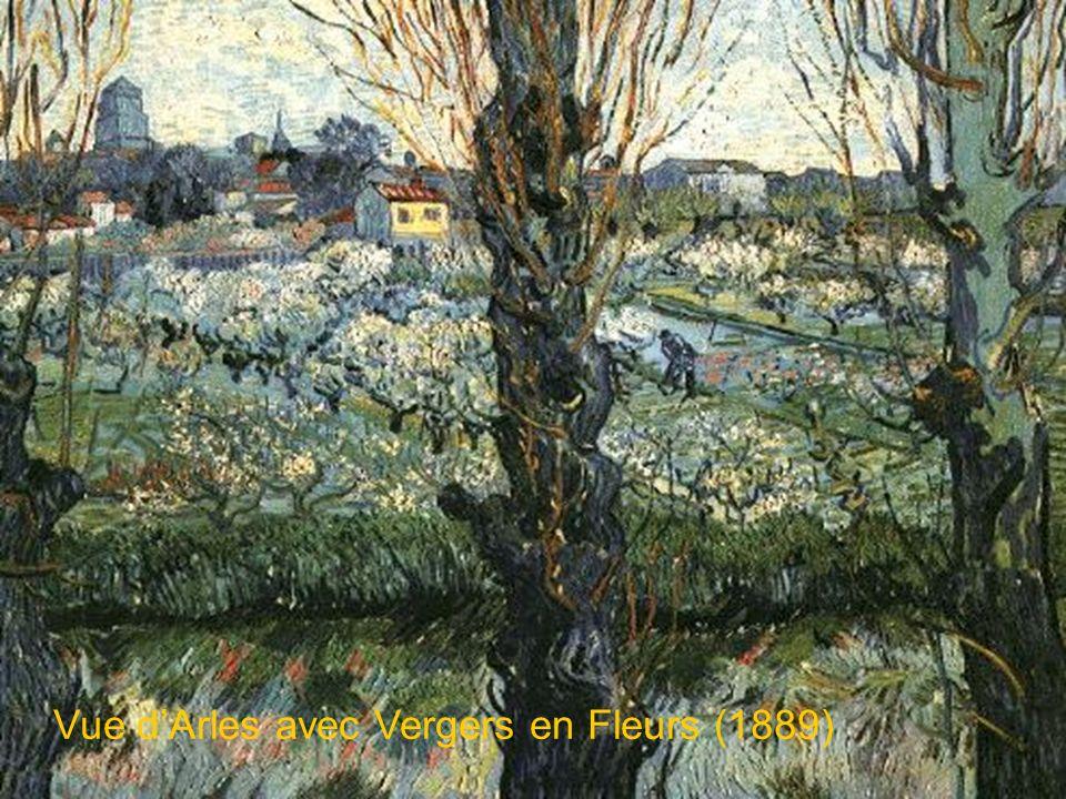 Vue dArles avec Arbres en Fleurs (1889)