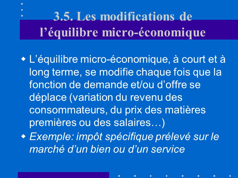 3.4. Léquilibre à long terme B. Dynamique Indicateurs de concurrence efficace: 3ème indicateur: historique des entrées sur le marché 4ème indicateur: