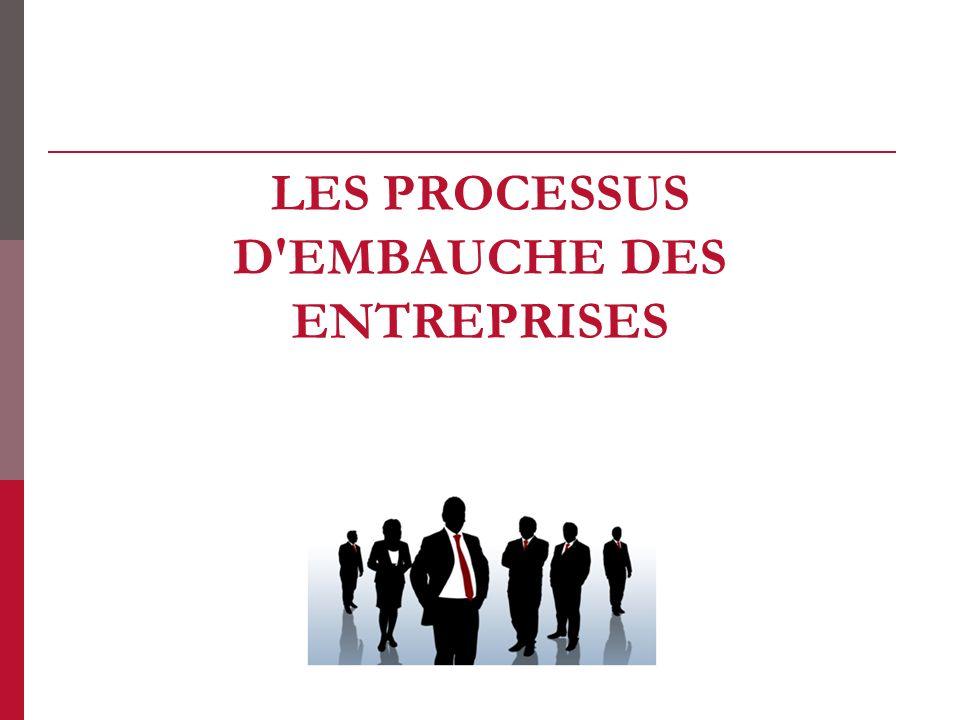 Les processus dembauche des entreprises 1.