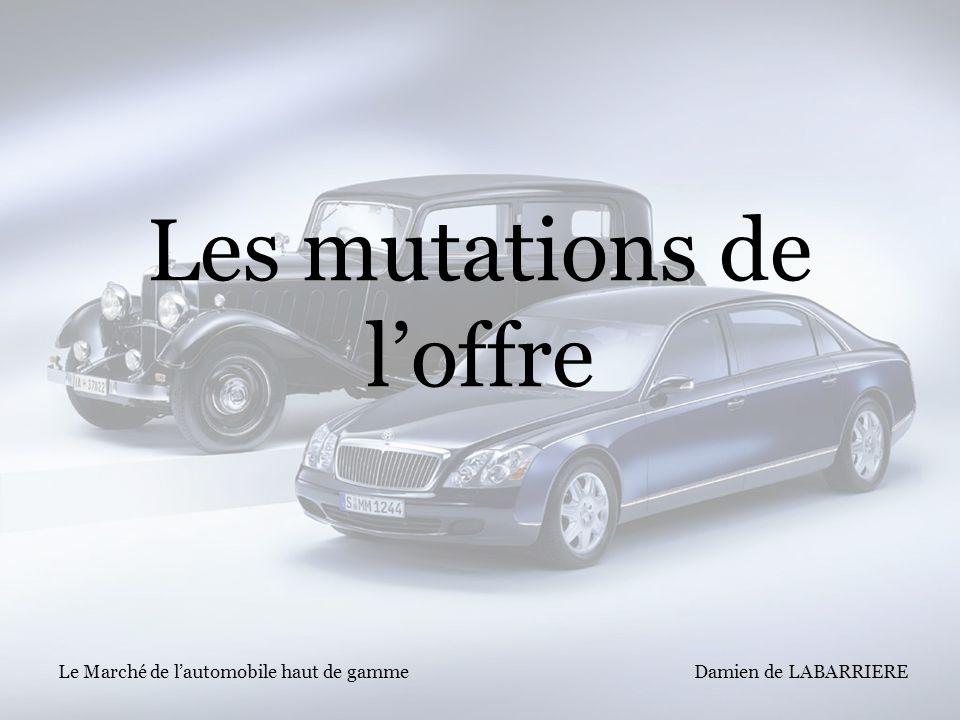 Damien de LABARRIERE Le Marché de lautomobile haut de gamme Les mutations de loffre