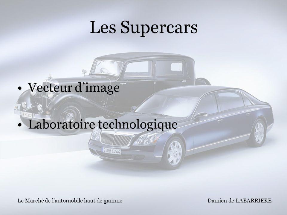 Damien de LABARRIERE Le Marché de lautomobile haut de gamme Les Supercars Vecteur dimage Laboratoire technologique