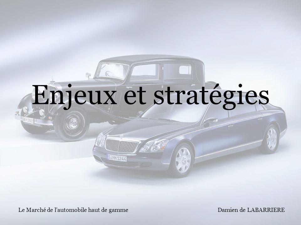Damien de LABARRIERE Le Marché de lautomobile haut de gamme Enjeux et stratégies
