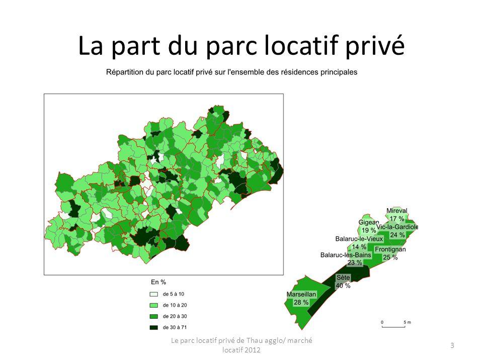 La part du parc locatif privé Le parc locatif privé de Thau agglo/ marché locatif 2012 3