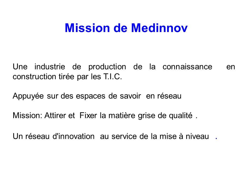 Une industrie de production de la connaissance en construction tirée par les T.I.C. Appuyée sur des espaces de savoir en réseau Mission: Attirer et Fi