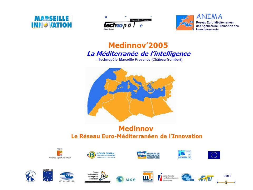 Réseau Euro-Méditerranéen des Agences de Promotion des Investissements Medinnov2005 La Méditerranée de lintelligence - Technopôle Marseille Provence (