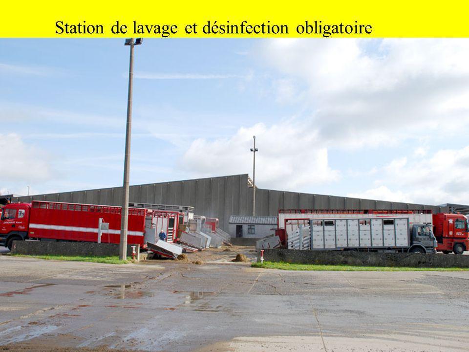 Station de lavage et désinfection obligatoire