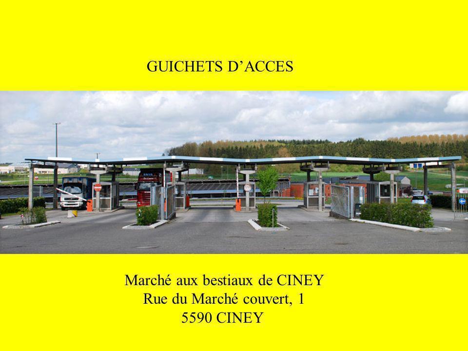GUICHETS DACCES Marché aux bestiaux de CINEY Rue du Marché couvert, 1 5590 CINEY