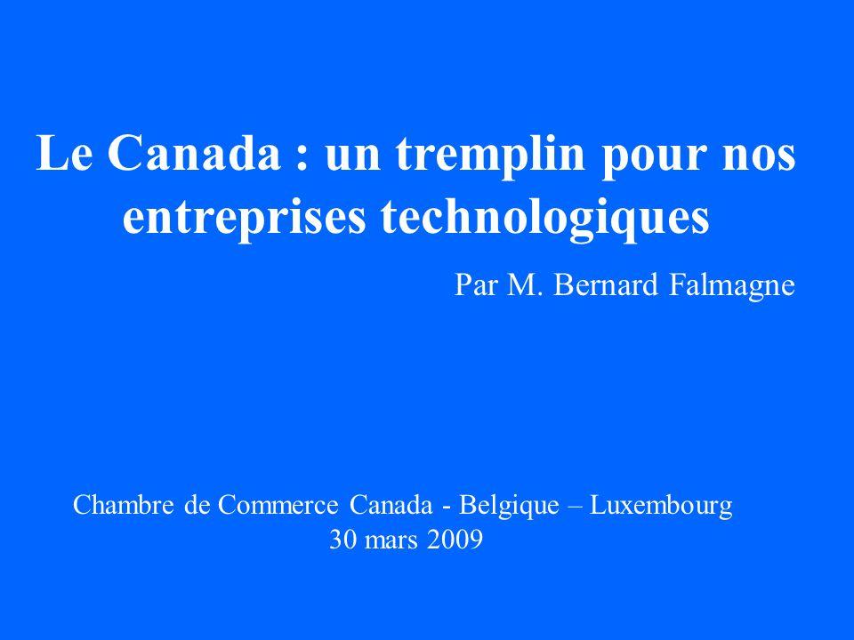 Léconomie du savoir (1) Indicateurs de la science et de la technologie dépenses intra-muros de R-D du secteur des entreprises (DIRDE) en pourcentage du PIB, Canada, Québec, Belgique, OCDE, EU 15 ( 1996 à 2006) Atouts et faiblesses 1996 2000 2004 2006 Canada : 0.96 1.15 1.19 1.12 Québec : 1.33 1.62 1.65 1.63 Belgique : 1.26 1.43 1.29 1.24 OCDE : 1.42 1.55 1.49 1.56 EU 15 : 1.10 1.19 1.18 1.20