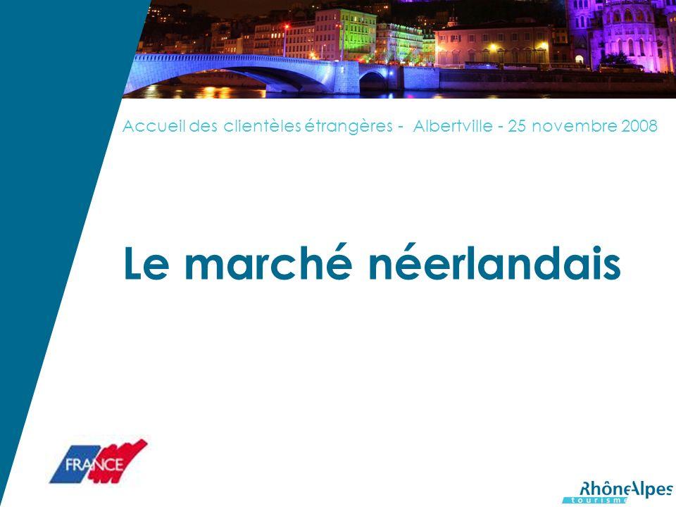 Accueil des clientèles étrangères - Albertville - 25 novembre 2008 Le marché néerlandais