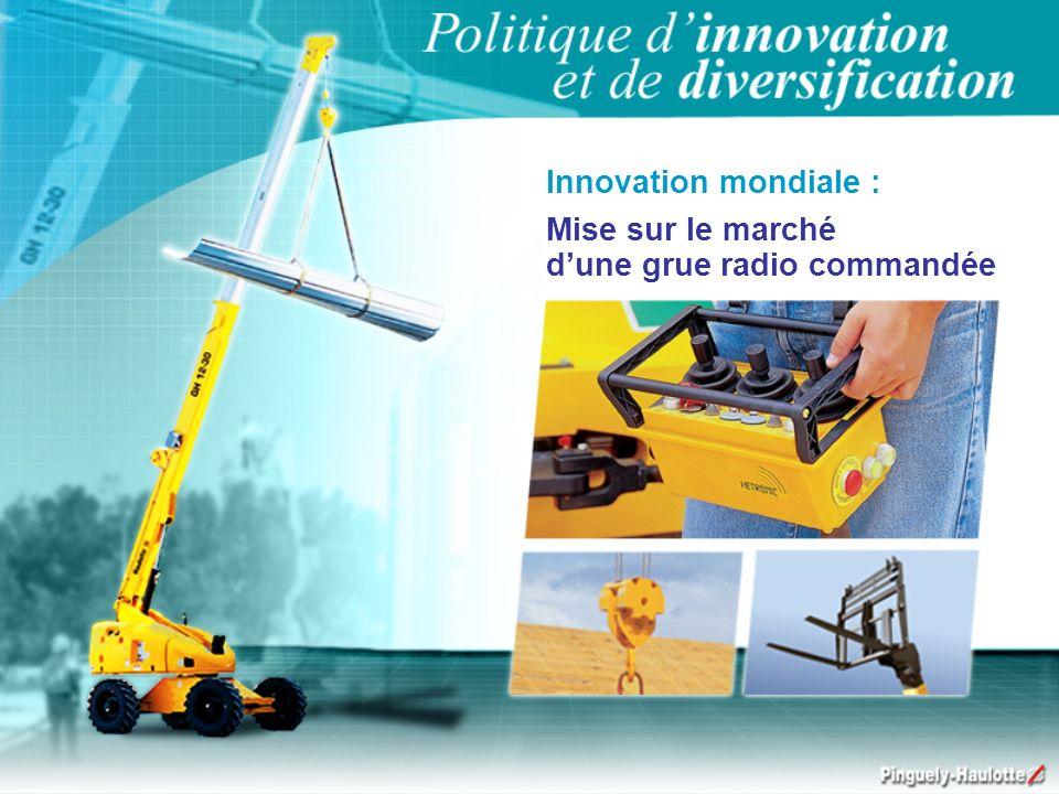 Innovation mondiale : Mise sur le marché dune grue radio commandée
