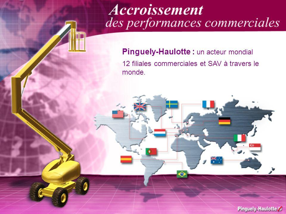 Pinguely-Haulotte : un acteur mondial 12 filiales commerciales et SAV à travers le monde.