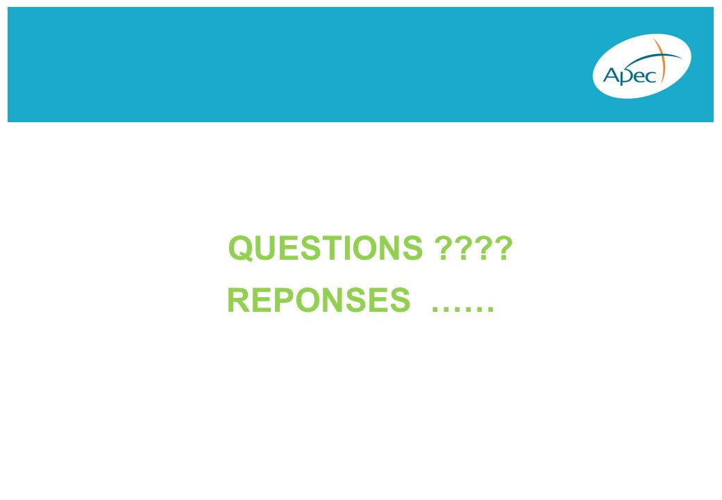 QUESTIONS REPONSES ……