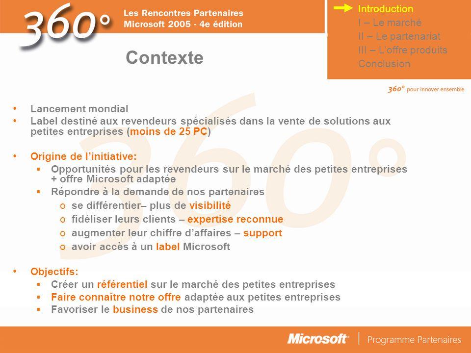 © Connect Factory 2005 – Les descriptions d opérations faites dans cette plaquette doivent être considérées comme des données confidentielles 4 scénarios pour loffre PME Microsoft 1.