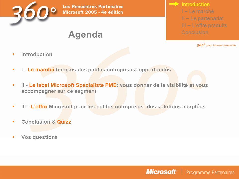 © Connect Factory 2005 – Les descriptions d opérations faites dans cette plaquette doivent être considérées comme des données confidentielles 4 scénarios pour loffre PME Microsoft 3.