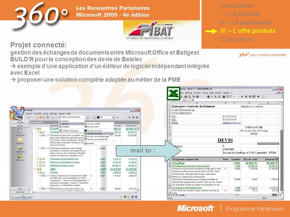 © Connect Factory 2005 – Les descriptions d'opérations faites dans cette plaquette doivent être considérées comme des données confidentielles Projet c