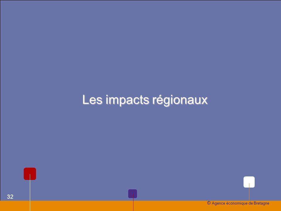 Les impacts régionaux © Agence économique de Bretagne 32