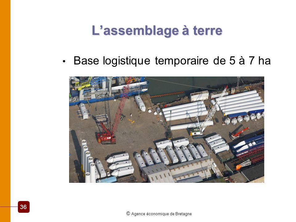Lassemblage à terre Base logistique temporaire de 5 à 7 ha © Agence économique de Bretagne 36