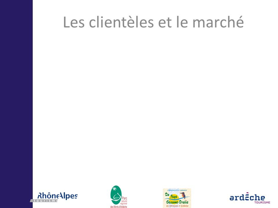 Les outils du développement de lécotourisme Labels : Ecolabel Européen, Clé-Verte, Green- Globe… Démarches globales territoriales : Charte Européenne du Tourisme Durable dans les Espaces Protégés (CETD), Démarches « institutionnelles » : Rhône-Alpes Tourisme / ADT-07 … Réflexions en cours pour articuler les deux approches.